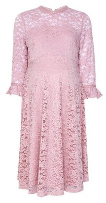 Dorothy Perkins Womens Dp Maternity Pink Lace Skater Dress, Pink