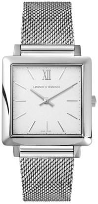 Larsson & Jennings LJXII Norse Milanese 34mm Silver Satin-White