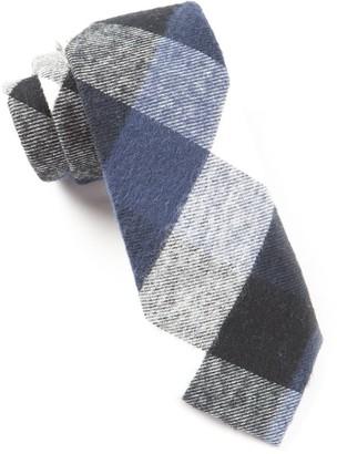 Tie Bar Jamison Plaid Navy Tie