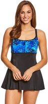 Longitude World Wind Shirred Empire Swimdress 8150544