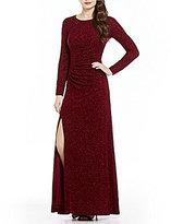 Calvin Klein Long Sleeve Glitter Knit Gown
