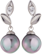 Majorica Pearl Vine Drop Earrings, Gray