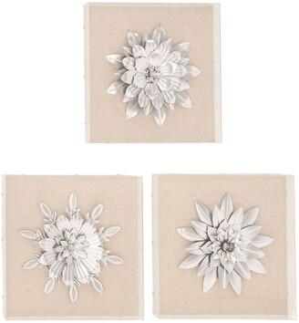 Uma Enterprises Set Of 3 Floral Wall Arts