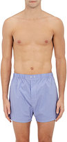 Barneys New York Men's Plaid Cotton Poplin Boxers