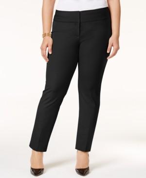Alfani Petite Plus Size Slim Tummy-Control Pants, Created for Macy's