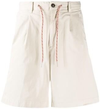 Closed Drawstring Waist Chino Shorts