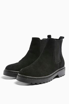 Topshop Womens Bramble Black Leather Chelsea Boots - Black