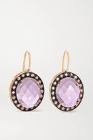 Thumbnail for your product : Andrea Fohrman 18-karat Rose Gold, Amethyst And Diamond Earrings - one size