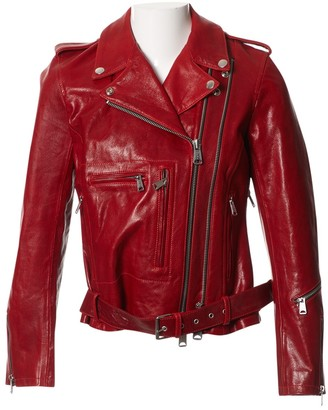 R 13 Red Leather Leather jackets