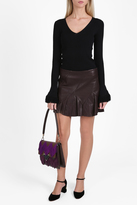 Derek Lam 10 Crosby Leather Flared Mini Skirt