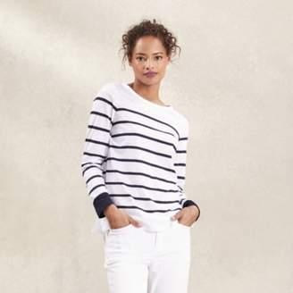 The White Company Blocked Breton Stripe T-Shirt , White Navy, 14