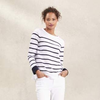 The White Company Blocked Breton Stripe T-Shirt , White Navy, 4