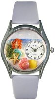 Whimsical Watches Women's S1210011 Mermaid Baby Blue Leather Watch