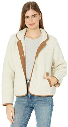 J.Crew Polartec(r) Jacket with Patch Pockets (Old Lace) Women's Clothing