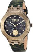 Versus By Versace Men's 'LAGUNA CITY' Quartz Gold-Tone and Leather Casual Watch