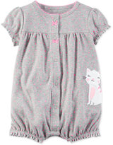 Carter's Dot-Print Cat Romper, Baby Girls (0-24 months)