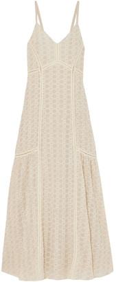 Jonathan Simkhai Crocheted Cotton-blend Gauze Maxi Dress