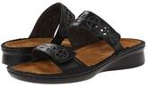 Naot Footwear Cornet (Black Raven Leather/Glass Silver) Women's Shoes