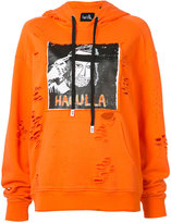 Haculla - distressed logo print hoodie - women - Cotton - XXS