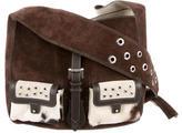 Luella Suede & Ponyhair Shoulder Bag