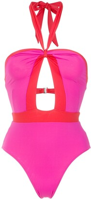 AMIR SLAMA Panelled Swimsuit