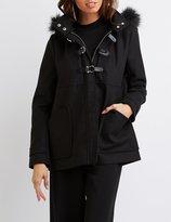 Charlotte Russe Faux Fur-Trim Hooded Coat