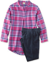 L.L. Bean Girls' Flannel Sleepwear Set
