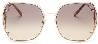 Salvatore Ferragamo Women's Gancini Hinge Oversized Square Sunglasses, 62mm
