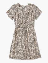 Lucky Brand Short Sleeve Smocked Dress