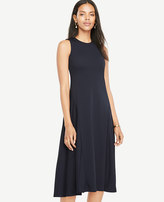 Ann Taylor Drapey Midi Flare Dress