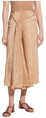 Vince Textured Drape Skirt (Sun Khaki) Women's Skirt