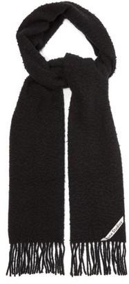 Acne Studios Holmes Logo-label Brushed Wool-twill Scarf - Mens - Black