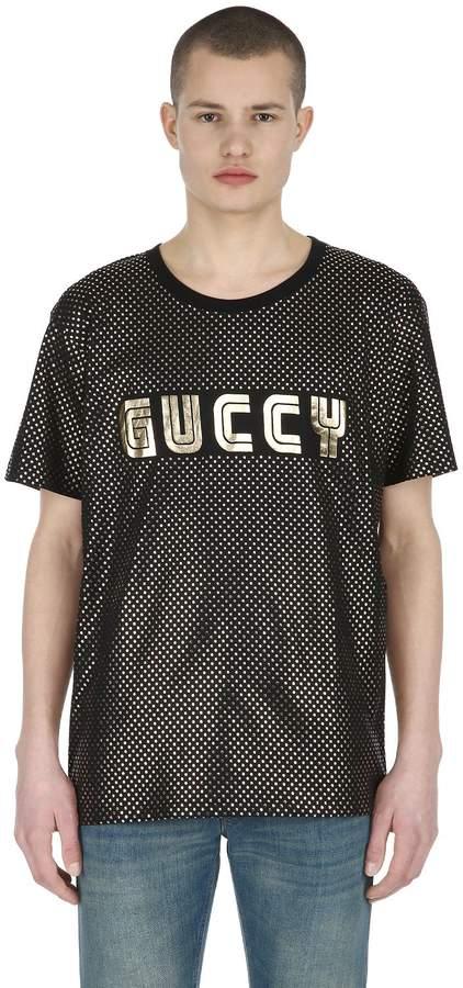 Gucci Guccy & Stars Cotton Jersey T-Shirt