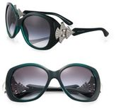 Bvlgari Oversized Square Embellished Sunglasses