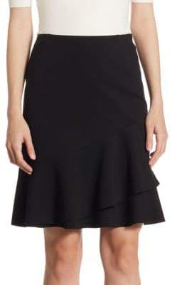 Akris Punto Tiered Jersey Skirt
