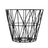 ferm LIVING Medium Wire Basket - Black