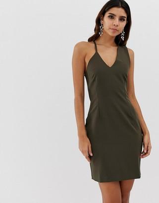 Vesper abstract strap bodycon dress