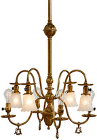Rejuvenation Victorian 8-Light Converted Gas Electric Chandelier