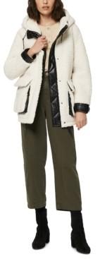 Andrew Marc Saros Hooded Fleece Teddy Coat