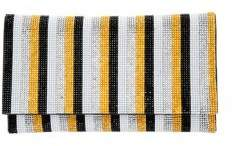 Nina Izara Striped Beaded Clutch