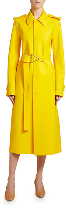 Bottega Veneta Rubber Single-Breasted Trench Coat