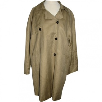 Maison Scotch Beige Linen Coat for Women