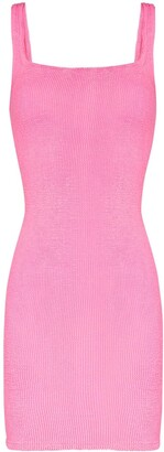 Hunza G Fitted Knitted Tank Dress
