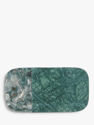 John Lewis & Partners Marble/Agate Cheese Platter, Green