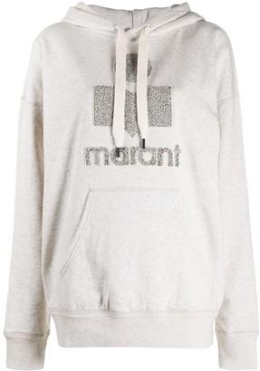 Etoile Isabel Marant Long Sleeve Lurex Logo Hoodie