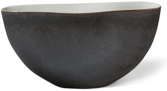 Global Views Isaias Pinched Bowl - Matte Bronze matte bronze/natural