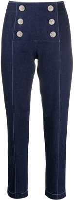 Giuseppe Di Morabito high waisted double buttoned trousers