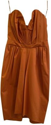 Saint Laurent Orange Cotton Dresses