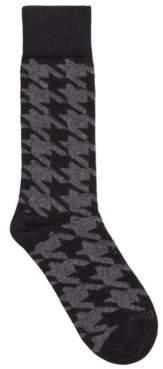 BOSS Patterned boot socks in a cashmere blend