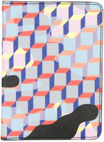 Pierre Hardy checked wallet - unisex - Leather/Canvas - One Size